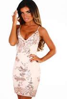 Pink Boutique Meilani Rose Gold Sequin Mini Dress