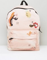 Asos X LOT STOCK & BARREL Backpack with Embroidery