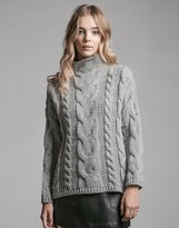 J.o.a. Long Sleeve Cable Knit Jumper