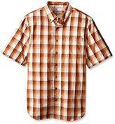 Carhartt Men's Big & Tall Essential Plaid Button-Front Short-Sleeve Shirt