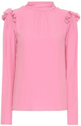 MSGM Silk crApe di chine blouse