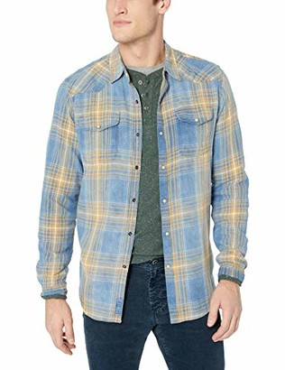 Lucky Brand Men's Long Sleeve Santa FE Western Button UP Shirt