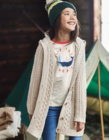 Boden Hooded Cable Cardigan