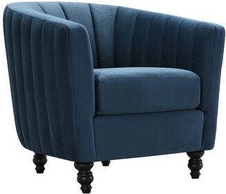 Chic Home Riviera Blue Accent Chair