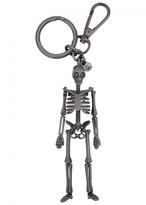 Alexander Mcqueen Gunmetal Skeleton Keyring