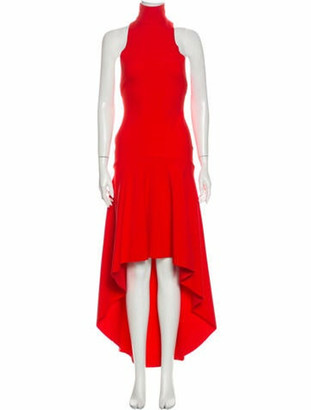 SOLACE London Mock Neck Long Dress w/ Tags Red