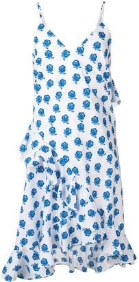 Kenzo Rose Print Ruffle Dress