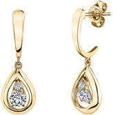 Sirena 1/8 CT. T.W. White Diamond 14K Gold Drop Earrings