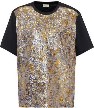 Dries Van Noten Sequinned cotton T-shirt