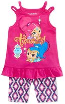 Nickelodeon Nickelodeon's Shimmer and Shine 2-Pc. Graphic Tank Top and Bike Shorts Set, Toddler Girls (2T-4T)