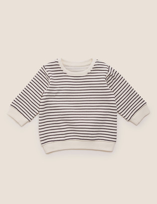 Marks and Spencer Cotton Striped Sweater (0-3 Yrs)