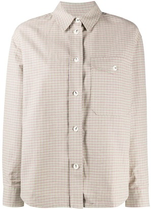 Wood Wood Check-Print Long-Sleeved Shirt