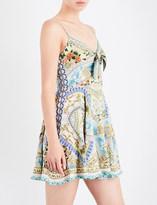 Camilla Sign of Peace silk-georgette mini dress