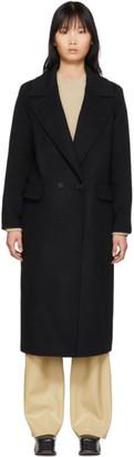 The Loom Black Wool Double Coat