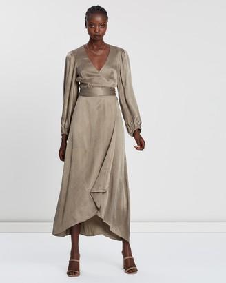 Shona Joy Elton Wrap Midi Dress