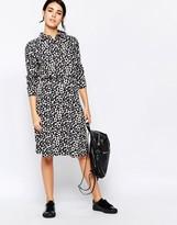 Ichi Polka Dot A Line Skirt