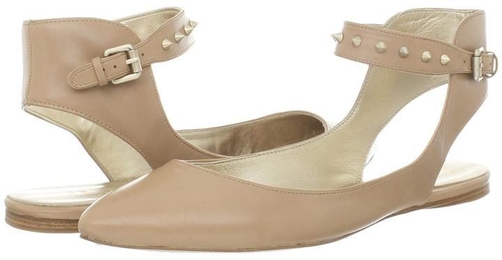 Belle by Sigerson Morrison Verita (Nude Leather w/Studs) - Footwear