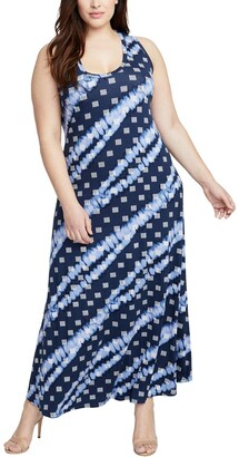 Rachel Roy Women's Plus Size Printed Maxi Dress