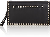 Valentino Women's Rockstud Flap Clutch-BLACK