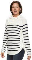 Croft & Barrow Women's Striped Cowlneck Sweater
