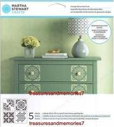 Martha Stewart Crafts Vintage Decor Stencil Set, 4 Sheets, 8 1/2x8 1/2 33561
