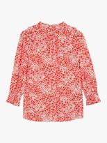 Oasis Heart Print Blouse, Red