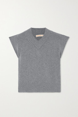 &Daughter Bonnie Merino Wool And Cashmere-blend Tank - Gray