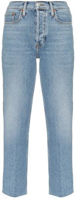 RE/DONE Stovepipe denim cropped jeans