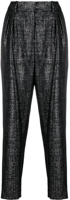Balmain Tapered Lurex Trousers
