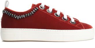 N°21 N21 Crystal-embellished Velvet Sneakers