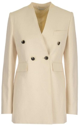 Givenchy Double Breasted Collarless Blazer