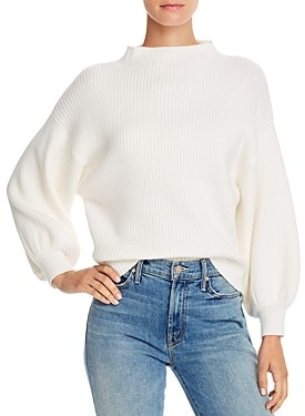 Line & Dot Funnel Neck Ribbed Sweater - 100% Exclusive