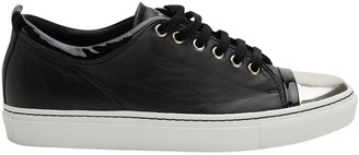 Lanvin Black Leather Trainers