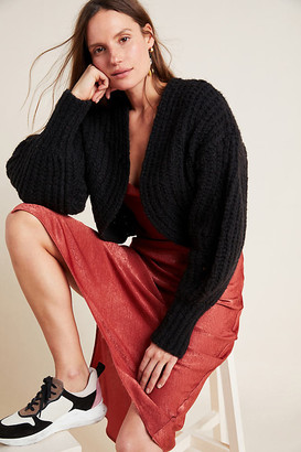 Anthropologie Rae Cropped Cardigan By in Black Size M