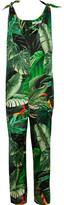 Max Mara Printed Silk-twill Jumpsuit - Green