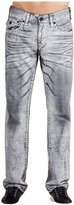 True Religion Men's Big T Relaxed Straight Leg w/ Flap Jeans in