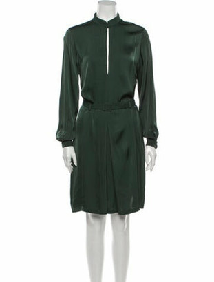 Totême Mock Neck Knee-Length Dress Green