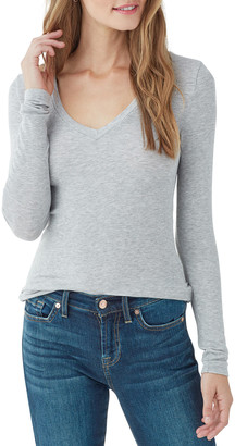 Splendid Valley 2x1 Rib Long-Sleeve V-Neck Tee
