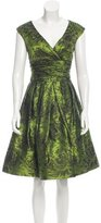 Oscar de la Renta Silk Jacquard Dress