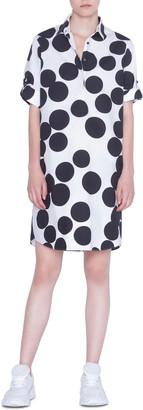 Akris Punto Luna Dot Paper Cut Print Shirtdress