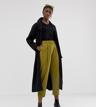 Weekday tailored trousers in olive