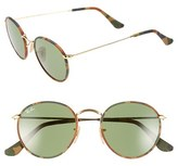Ray-Ban Women's Camo Print Round 50Mm Sunglasses - Brown/ Green