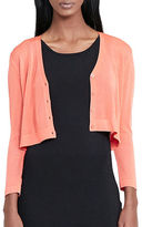 Lauren Ralph Lauren Cropped V-Neck Cardigan