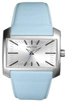 Nautica ladies silver dial with blue leather strap - A09578