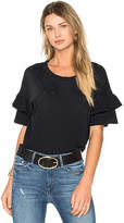 Current/Elliott The Ruffle Roadie Top