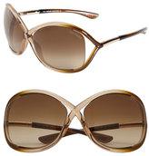 Tom Ford Women's 'Whitney' 64Mm Open Side Sunglasses - Dark Brown
