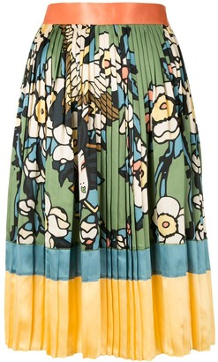 DSQUARED2 Floral Bird Print Skirt