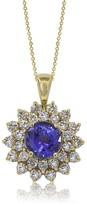 Effy Jewelry 14K Yellow Gold Tanzanite and Diamond Pendant, 3.27 TCW