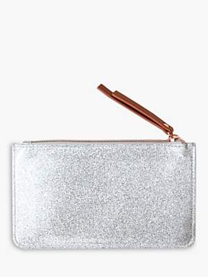 Caroline Gardner Everyday Glitter Purse, Silver