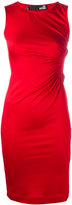 Love Moschino ruched heart dress - women - Spandex/Elastane/Viscose - 40